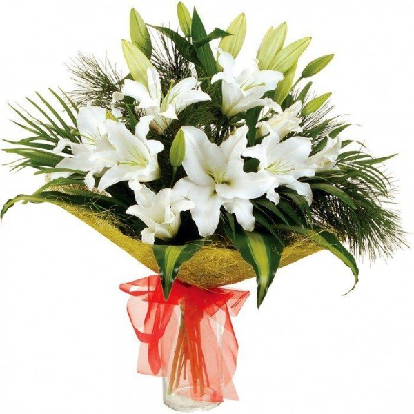 картинка с цветами лилии в подарок ведь тогда
